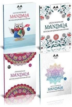 Yetişkinler İçin Mandala Boyama Seti 1-4 Kitap