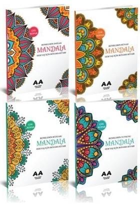 Yetişkinler İçin Mandala Boyama Seti 2-4 Kitap