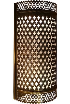 The İstanbul Lamp Otantik Osmanlı Dekoratif Gece Lambası Aplik Sarı Pirinç IST-AP01K