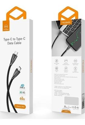 Mcdodo CA-5890 Type-C To Type-C Qc 4.0 60W Şarj ve Data Kablosu 1.5 mt