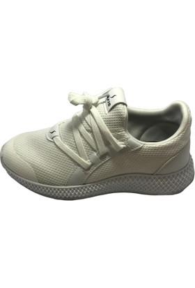 Norfix Beyaz-Anorak Yeni Sezon Bağcıksız Hafif Rahat Spor Ayakkabı
