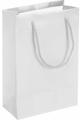 Eposet Beyaz Karton Hediye ve Parti Çantası 14 x 17 cm 25'li