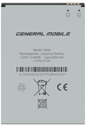 General Mobile Gm 8 Go / Gm 9 Go 3500 Mah Batarya