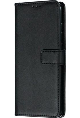Case Street Oppo A5 2020 Kılıf LocaL Cüzdan Standlı Kartvizitli Siyah