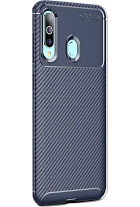 Gpack Samsung Galaxy M40 Kılıf Negro Karbon Dizayn Silikon Lacivert