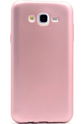 Gpack Samsung Galaxy J7 Nxt Kılıf Premier Silikon Esnek Koruma + Nano Glass Bronz