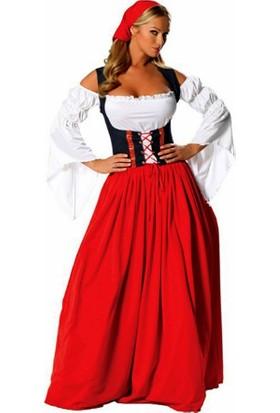 Kostümce Bayerische Kostümü Alman Kıyafeti Yetişkin