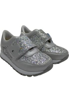 Minican Kız Çocuk Ayakkabı Gümüş Simli