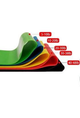 Sgsports Yoga Pilates Direnç Bandı Seti 5 Farklı Direnç Seviyesi