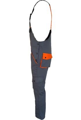 Simgeden İş Elbiseleri Jsr Askılı Tulum Gri - Turuncu 44