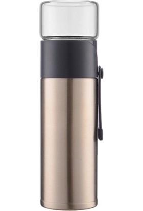 Tavananna 400 ml Cam Çay Demleme Hazneli Paslanmaz Çelik Yalıtımlı Termos