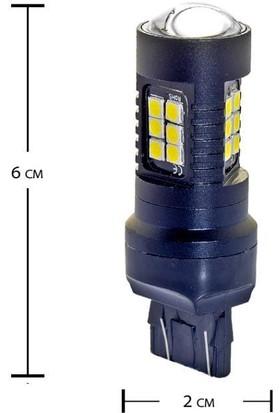 Carmaniaks Osram Mercekli Canbus T20 Beyaz Stop ve Sinyal LED Ampulü CRME0117