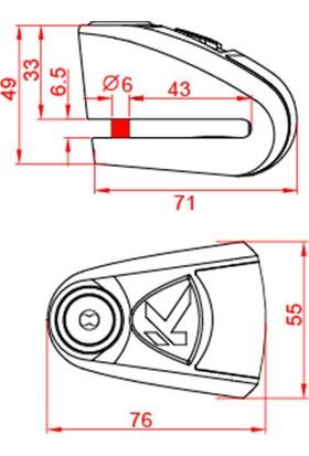 Kovıx Kal6-Bm Alarmlı Disk Kilit