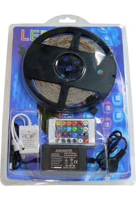 LED Strip Rgb Smd 5050 Şerit LED Uzaktan Kumandalı Set 5 M