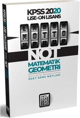 Benim Hocam Yayınları 2020 Lise Önlisans Motto Matematik Geometri Ders Notları