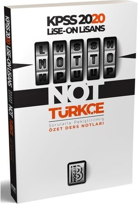 Benim Hocam 2020 Lise Önlisans Motto Türkçe Ders Notları