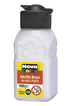 Nova Color Akrilik Boya 100 ml Beyaz