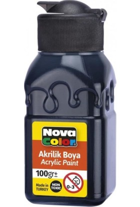 Nova Color Akrilik Boya 100 ml Siyah
