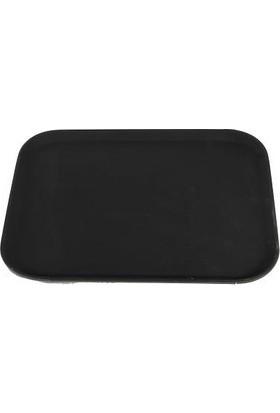 Globy Siyah Dikdörtgen Kaymaz Tepsi 35,6*45,7 cm
