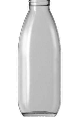 Şişecam Cam Şişe 1000 ml ve Emniyetli Kırmızı Kapak (16'lı Paket)