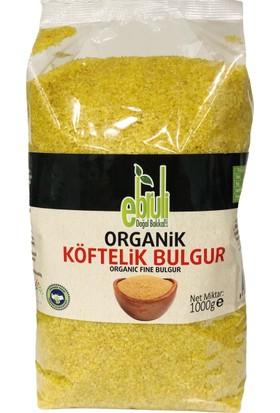 Ebruli Doğal Bakkal Organik Köftelik Bulgur 1 kg x 2'li