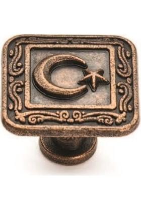 Özsan Ayyıldız Düğme Antik Bakır 5'li