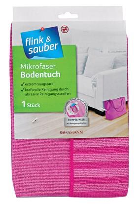 Flink & Sauber Mikrofiber Temizlik Bezi Çift Taraflı-Yer Temizlik Bezi 1 Adet
