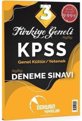 Doktrin Kpss Genel Kültür Genel Yetenek Türkiye Geneli 3 Deneme Sınavı-Yeni - Komisyon