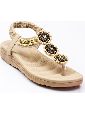 Guja 150 - 7 Parmak Arası Kadın Sandalet Bej
