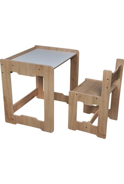 Minera Martı Çocuk Çalışma Masa ve Sandalyesi 4-6 Yaş