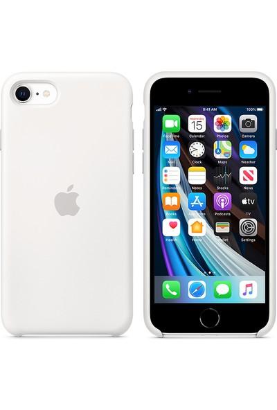 Apple iPhone SE 2.Nesil Silikon Kılıf MXYJ2ZM/A - Beyaz