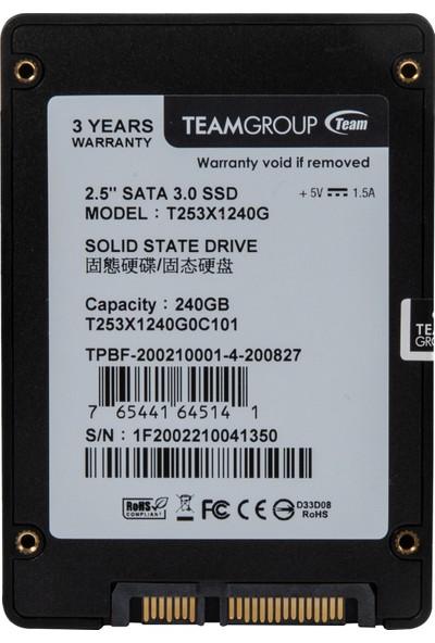 """Team GX1 240GB 450MB - 499 MB/s 2.5"""" Sata 3 SSD (T253X1240GOC101)"""