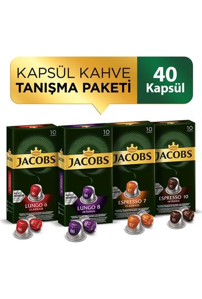 Jacobs Nespresso Uyumlu Kapsül Kahve 40 Adet Tanışma Seti