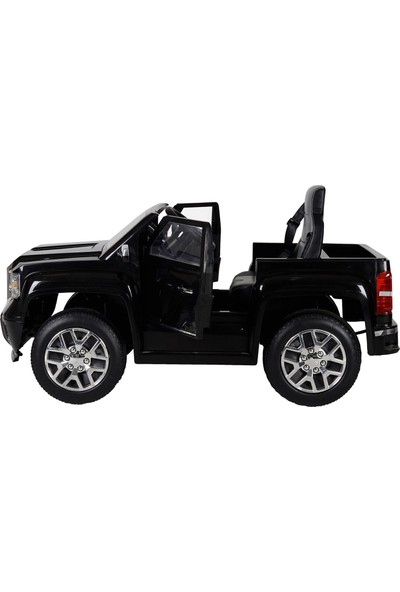 Rollplay GMC Pick Up Uzaktan Kumandalı Akülü Araba 12V W460QHM4 - Siyah