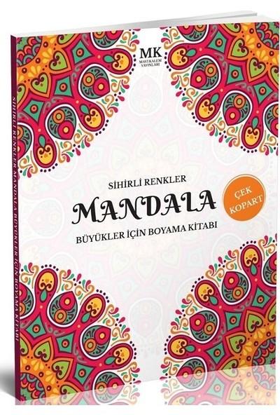 Büyükler İçin Boyama Kitabı Mandala Sihirli Renkler
