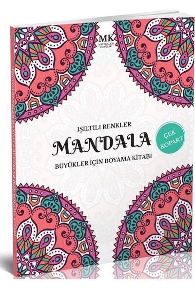 Büyükler İçin Boyama Kitabı Mandala Işıltılı Renkler