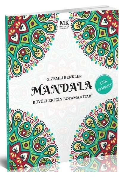 Büyükler İçin Boyama Kitabı Mandala Gizemli Renkler
