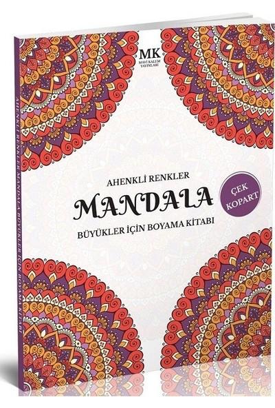 Büyükler İçin Boyama Kitabı Mandala Ahenkli Renkler