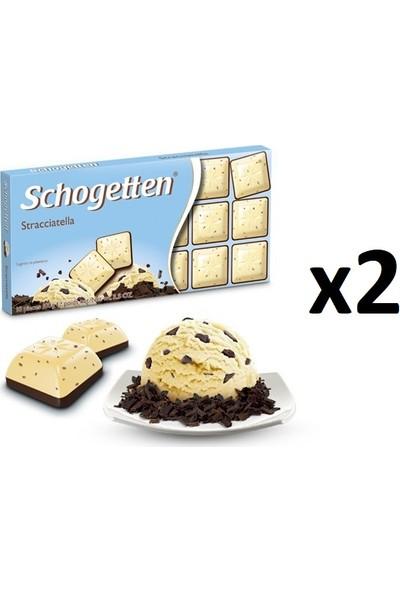 Schogetten Stracciatella Dondurma Tadında Çikolata 100 gr x 2'li