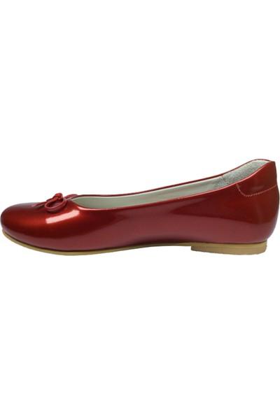 Cici Bebe Filet Babet Kırmızı Rugan Kız Çocuk Ayakkabı Cirtli İçi Deri Brtsiz