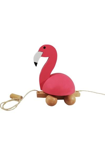 Arda Ahşap Ahşap İpli Çekçek Flamingo Ailesi