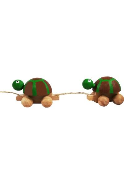 Arda Ahşap Ahşap İpli Çekçek Kaplumbağa Ailesi