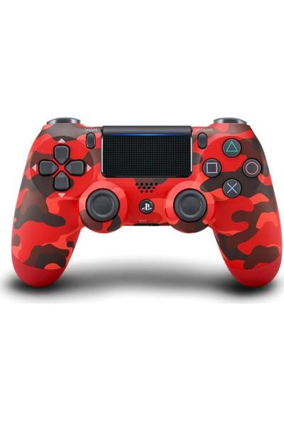 Sony PS4 Dualshock 4 V2 Gamepad Kol - Kırmızı Kamuflaj Teşhir
