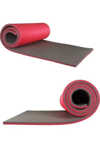 Dosmai Pilates Egzersiz Minderi Yoga Matı 1 cm Kırmızı - Siyah