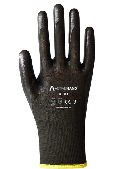 Activehand Nt 101 Nitril Kaplı Eldiven 5 Çift