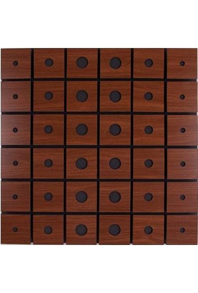 Center Acoustic Circle Akustik Ahşap Difüzör Panel Kahverengi