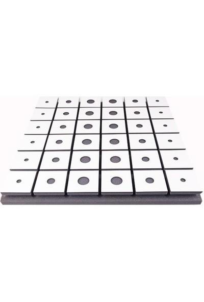 Center Acoustic Circle Akustik Ahşap Difüzör Panel Beyaz