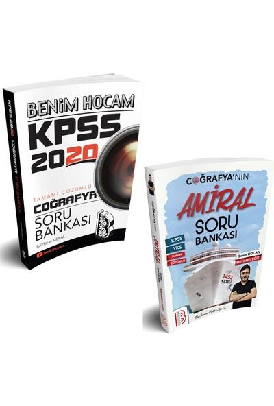 Benim Hocam Yayınları 2020 KPSS Coğrafya Tamamı Çözümlü Soru Bankası + Tamamı Çözümlü Amiral Coğrafya Soru Bankası