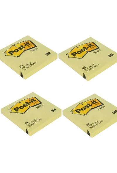 Yapışkanlı Not Kağıdı Sarı 76 x 76 mm 4'lü