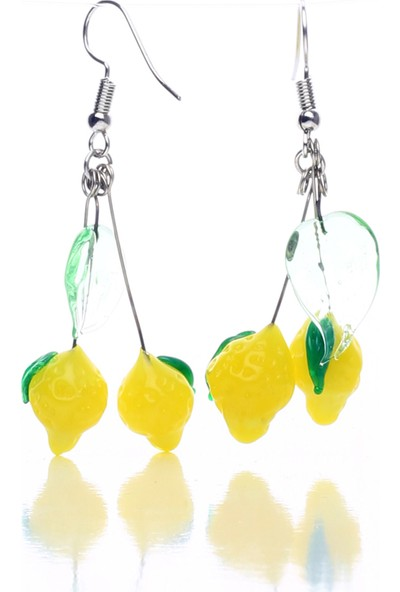 Nkartglass Limon Küpe